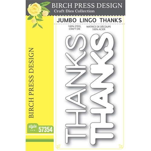 Birch Press Design JUMBO LINGO THANKS Craft Dies 57354 Preview Image