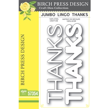 Birch Press Design JUMBO LINGO THANKS Craft Dies 57354