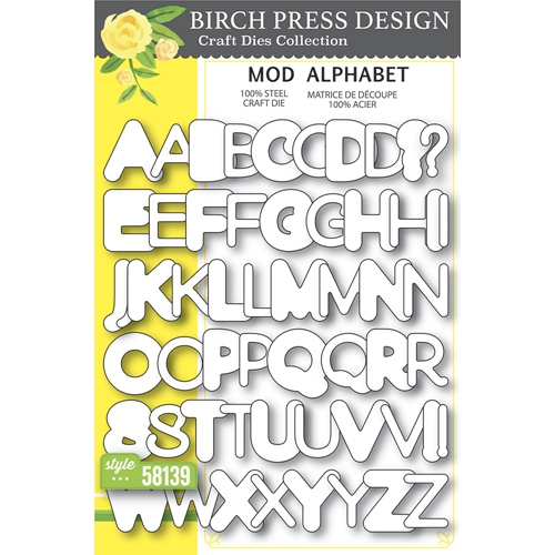 Birch Press Design MOD ALPHABET Craft Dies 58139 Preview Image