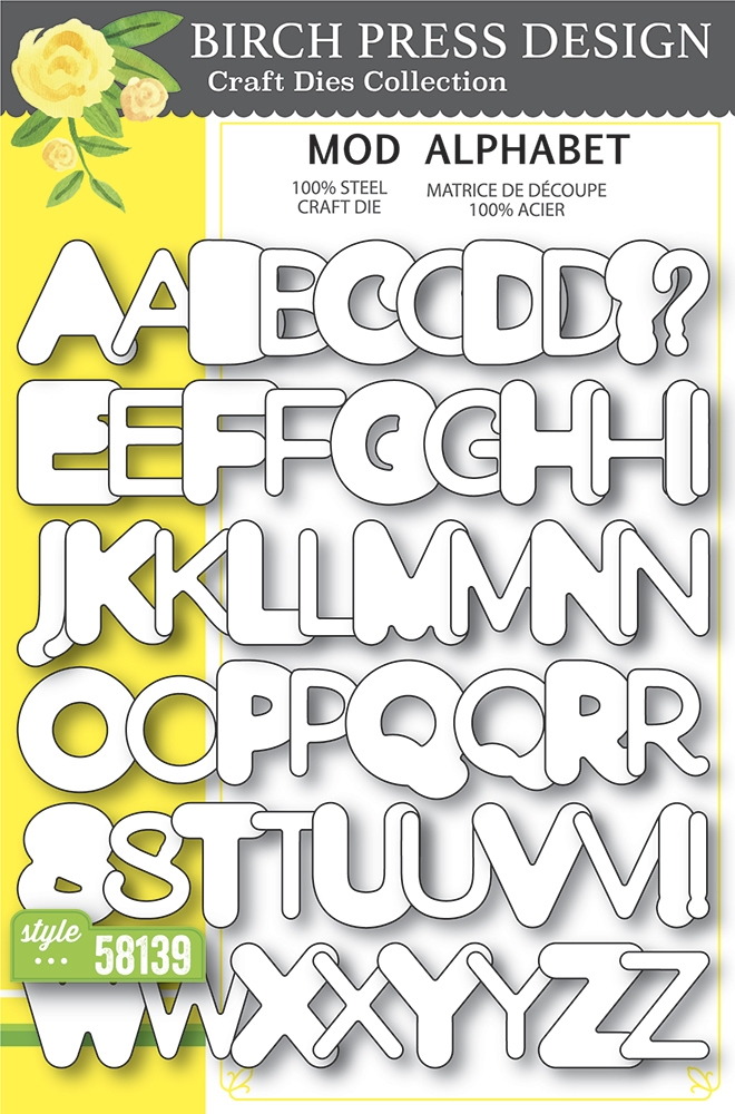 Birch Press Design MOD ALPHABET Craft Dies 58139 zoom image