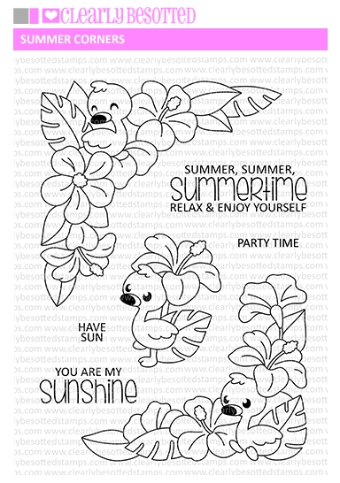 Clearly Besotted SUMMER CORNERS Clear Stamps zoom image