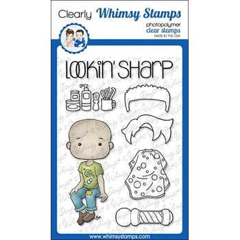 Whimsy Stamps POLKA DOT PALS LELAND Clear Stamps BS1010