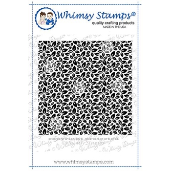 Whimsy Stamps LEAVES BACKGROUND Cling Stamp DDB0040