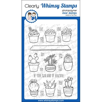 Whimsy Stamps SWEET SUCCULENTS Clear Stamps CWSD321