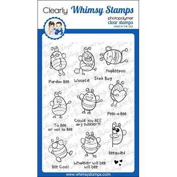 Whimsy Stamps BIZZY BEES Clear Stamps CWSD222