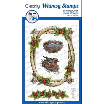Whimsy Stamps BIRCH FRAMES Clear Stamps DA1141