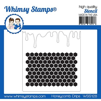 Whimsy Stamps HONEYCOMB DRIPS Stencil WSS128