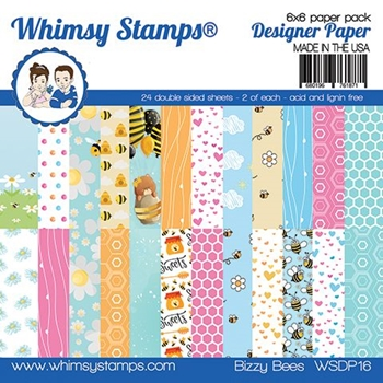 Whimsy Stamps BIZZY BEE 6 x 6 Paper Pads WSDP16