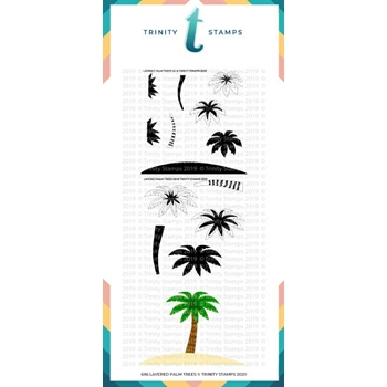 Trinity Stamps LAYERED PALM TREE 6 x 6 Stencil Set of 2 tss018