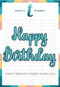 Trinity Stamps SCRIPTY BIRTHDAY Die Set tmd030