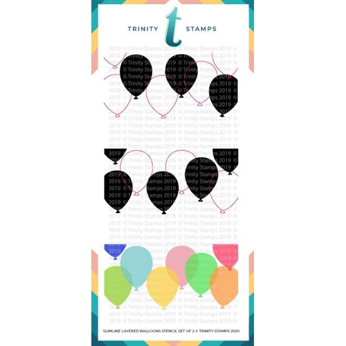 Trinity Stamps SLIMLINE LAYERED BALLOONS 6 x 9 Stencil Set of 2 tss020 Preview Image