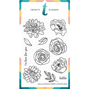 Trinity Stamps WALLFLOWER Clear Stamp Set tps052