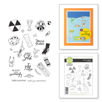 SS-0674 Spellbinders MAKE A SPLASH Cling Stamps