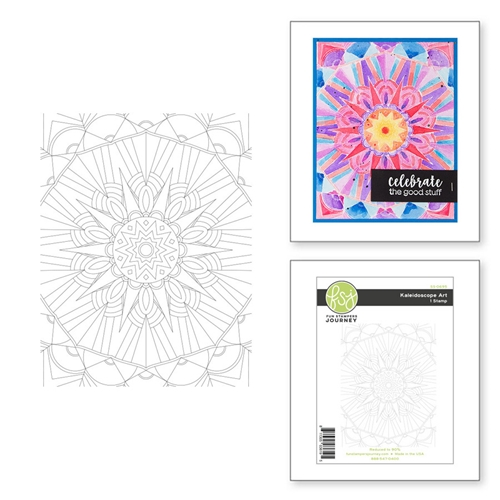 SS-0695 Spellbinders KALEIDOSCOPE ART BACKGROUND Cling Stamp  Preview Image