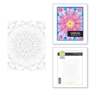 SS-0695 Spellbinders KALEIDOSCOPE ART BACKGROUND Cling Stamp
