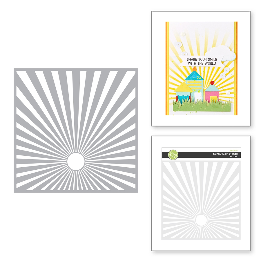 JM-0135 Spellbinders SUNNY DAY Stencil  zoom image