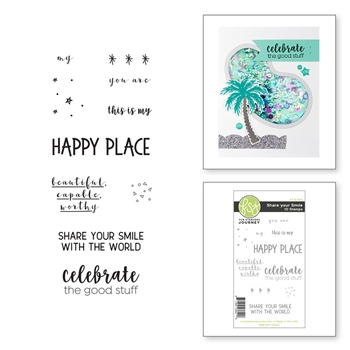 AT-0360 Spellbinders SHARE YOUR SMILE Cling Stamps