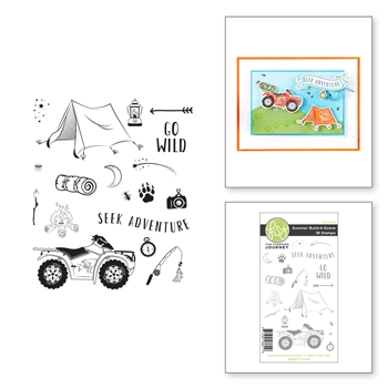 AT-0361 Spellbinders SUMER BUILD A SCENE Cling Stamps