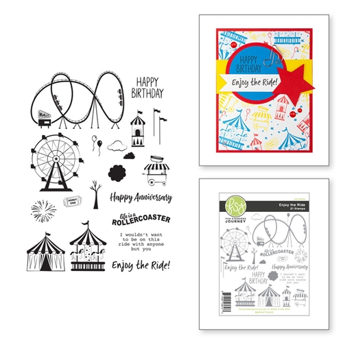 SS-0692 Spellbinders ENJOY THE RIDE Cling Stamps Preview Image