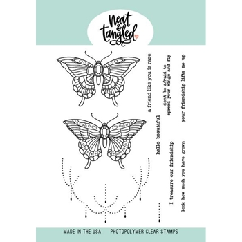 Neat and Tangled BUTTERFLY BEAUTIES Clear Stamps NAT496