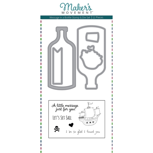 Maker's Movement MESSAGE IN A BOTTLE Stamp And Die Set msd222* Preview Image