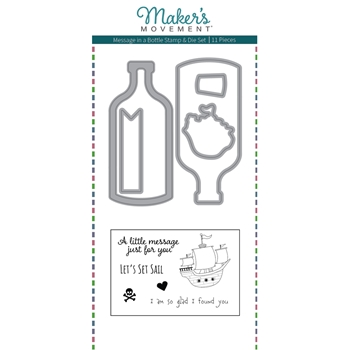 Maker's Movement MESSAGE IN A BOTTLE Stamp And Die Set msd222