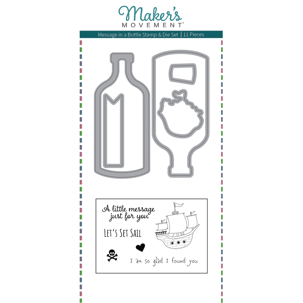 Maker's Movement MESSAGE IN A BOTTLE Stamp And Die Set msd222* zoom image