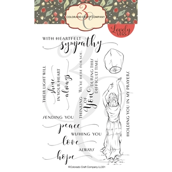 Colorado Craft Company Lovely Legs SKY LANTERN SYMPATHY Clear Stamps LL331