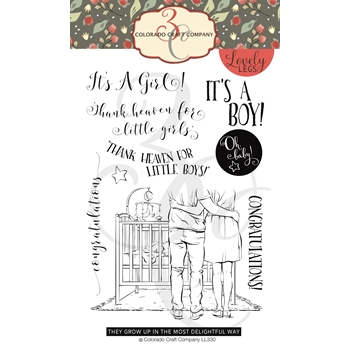 Colorado Craft Company Lovely Legs BABY CONGRATS Clear Stamps LL330