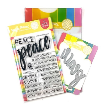 Waffle Flower OVERSIZED PEACE Clear Stamp and Die Combo 420063