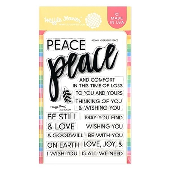 Waffle Flower OVERSIZED PEACE Clear Stamps 420061