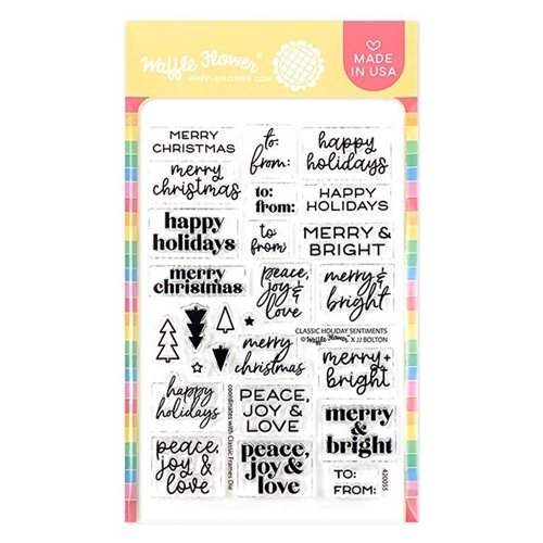 Waffle Flower CLASSIC HOLIDAY SENTIMENTS Clear Stamps 420055 Preview Image
