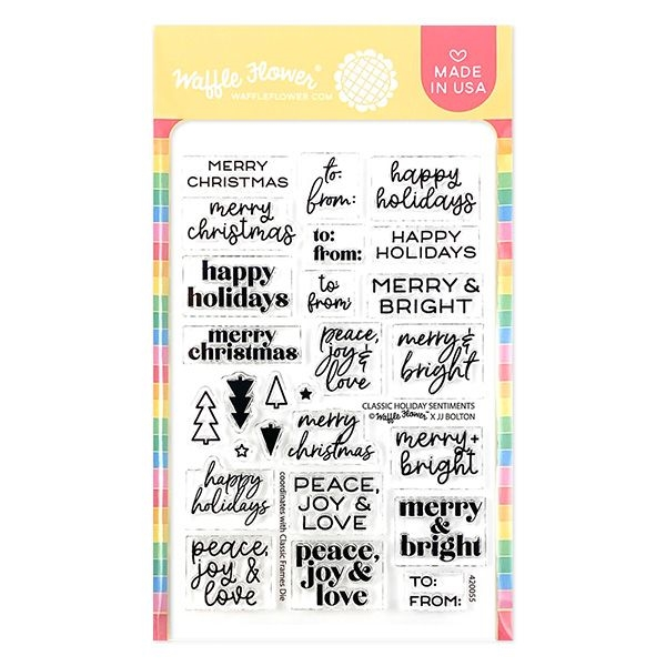 Waffle Flower CLASSIC HOLIDAY SENTIMENTS Clear Stamps 420055 zoom image