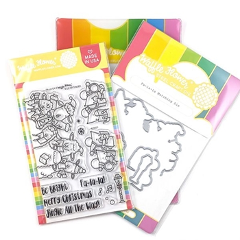 Waffle Flower FA LA LA Clear Stamp and Die Combo 420023