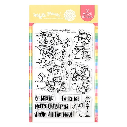 Waffle Flower FA LA LA Clear Stamps 420021* Preview Image