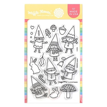 Waffle Flower HAPPY GNOMES Clear Stamps 420011