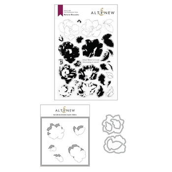 Altenew NATURE BLOSSOMS Clear Stamp, Die and Mask Stencil Bundle ALT4277