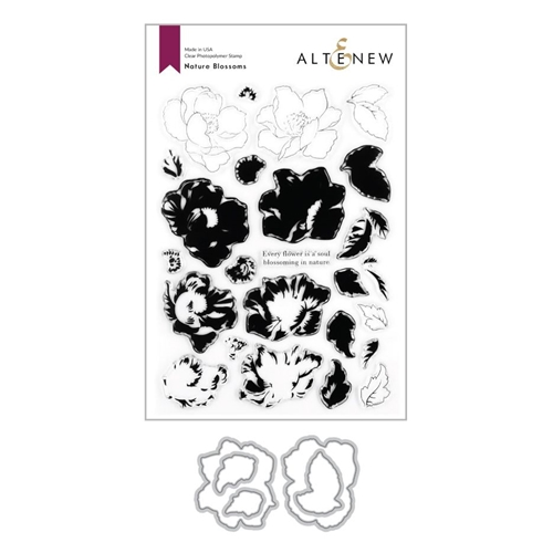 Altenew NATURE BLOSSOMS Clear Stamp and Die Bundle ALT4276 Preview Image