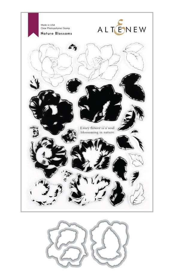 Altenew NATURE BLOSSOMS Clear Stamp and Die Bundle ALT4276 zoom image