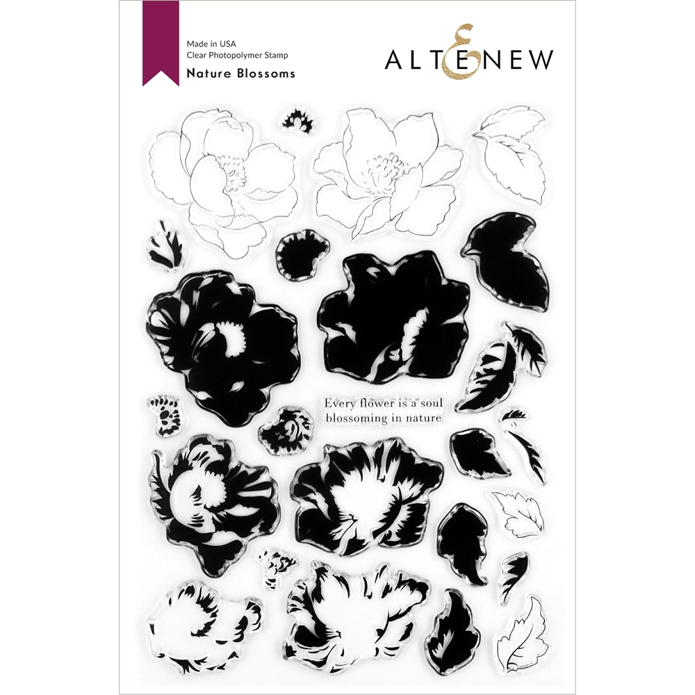 Altenew NATURE BLOSSOMS Clear Stamps ALT4273 zoom image