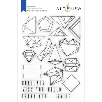 Altenew GEOMETRIC ELEMENTS Clear Stamps ALT4269