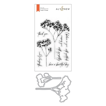 Altenew FRAGILE FOLIAGE Clear Stamp and Die Bundle ALT4268