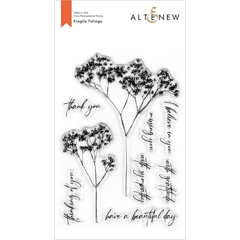 Altenew FRAGILE FOLIAGE Clear Stamps ALT4266