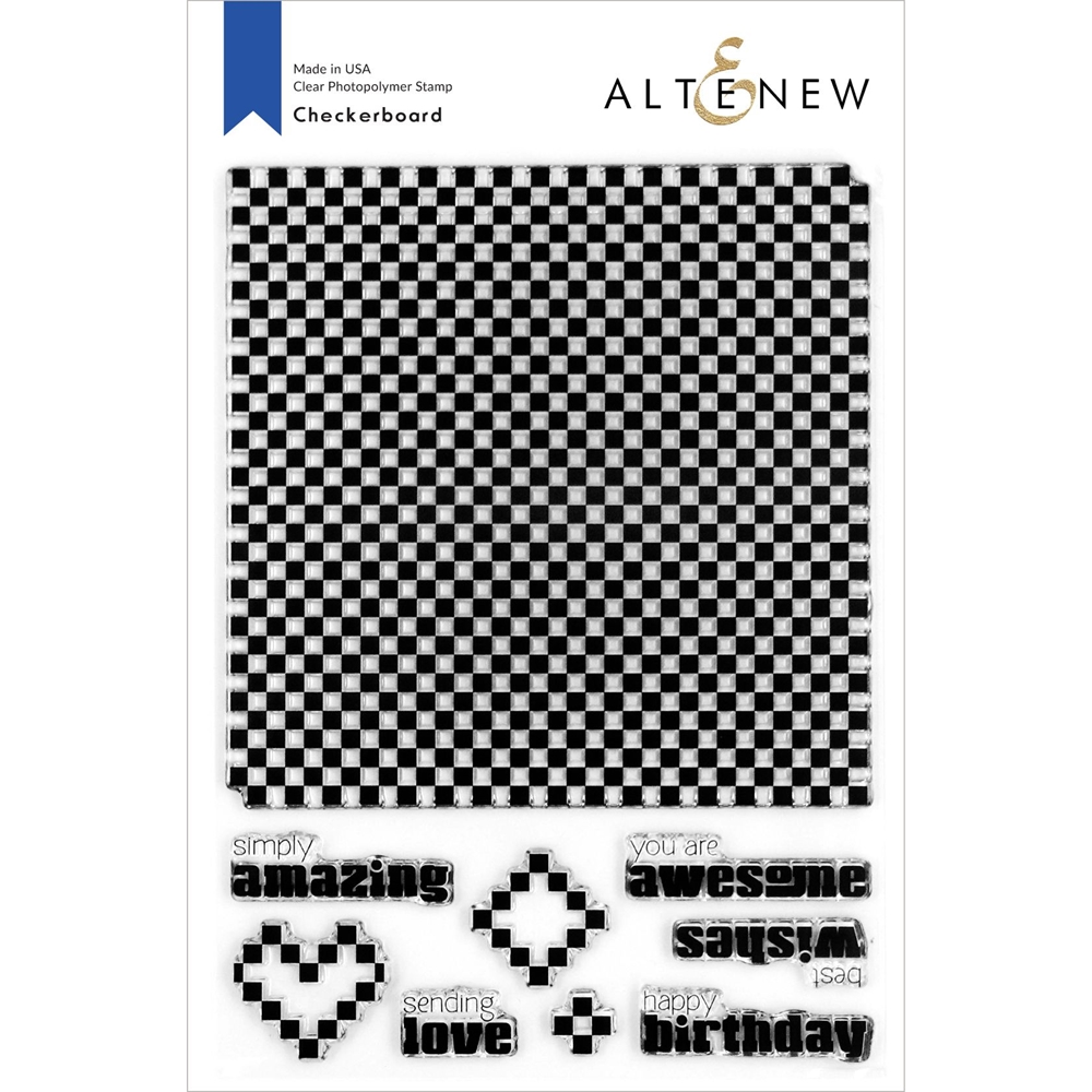 Altenew CHECKERBOARD Clear Stamps ALT4265 zoom image