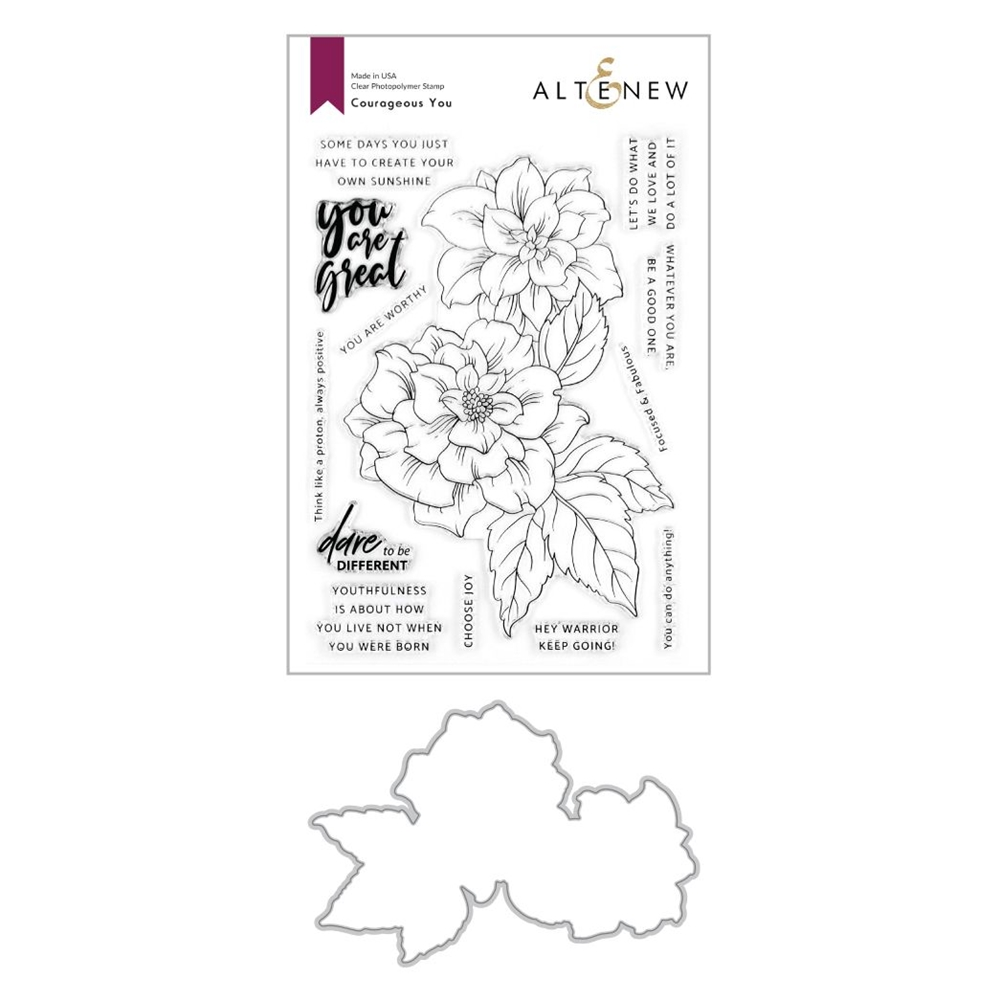 Altenew COURAGEOUS YOU Clear Stamp and Die Bundle ALT4263 zoom image