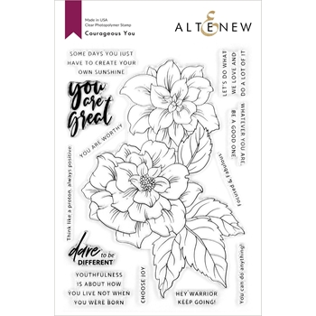 Altenew COURAGEOUS YOU Clear Stamps ALT4260