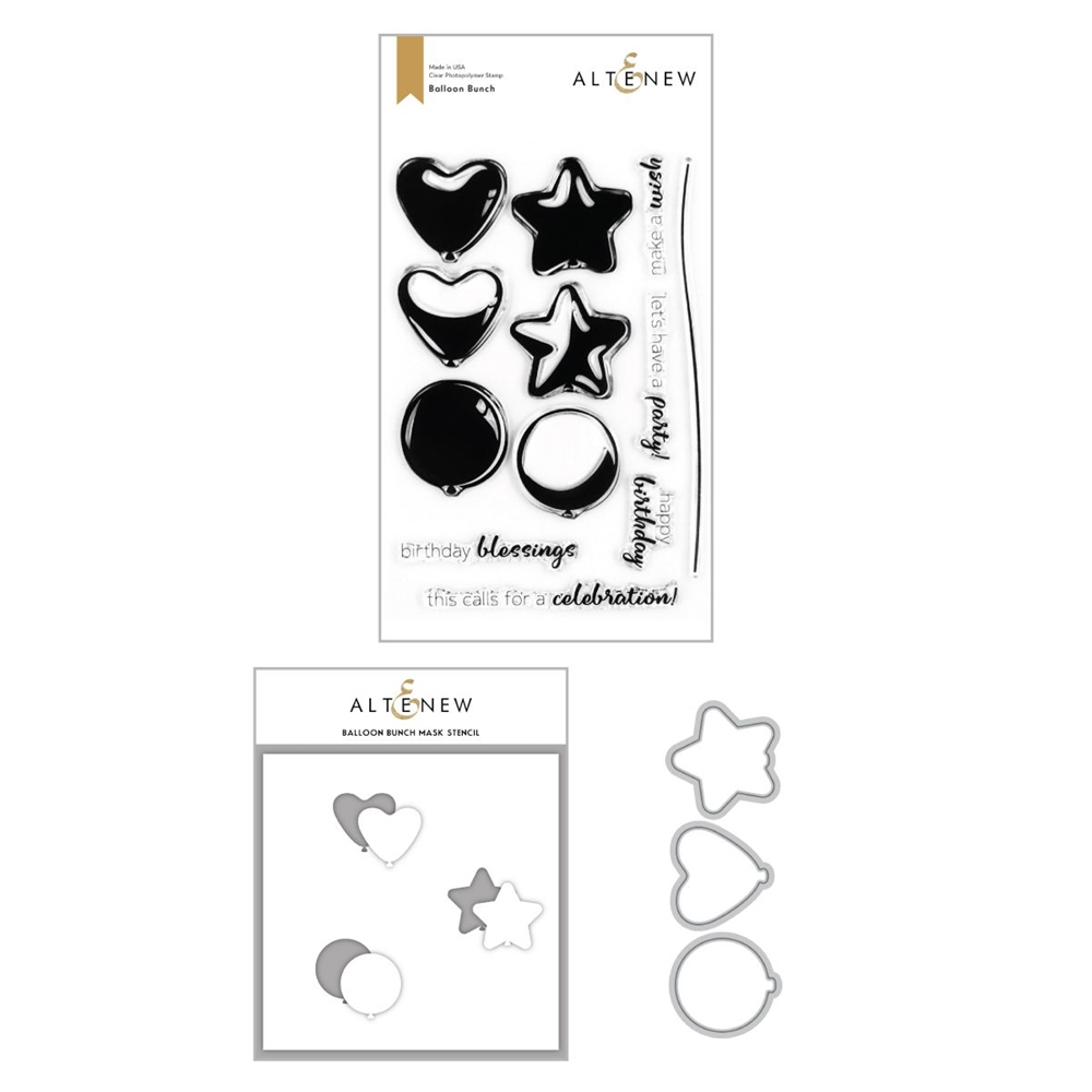 Altenew BALLOON BUNCH Clear Stamp, Die and Mask Stencil ALT4259 zoom image