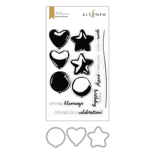 Altenew BALLOON BUNCH Clear Stamp and Die Bundle ALT4258 Preview Image