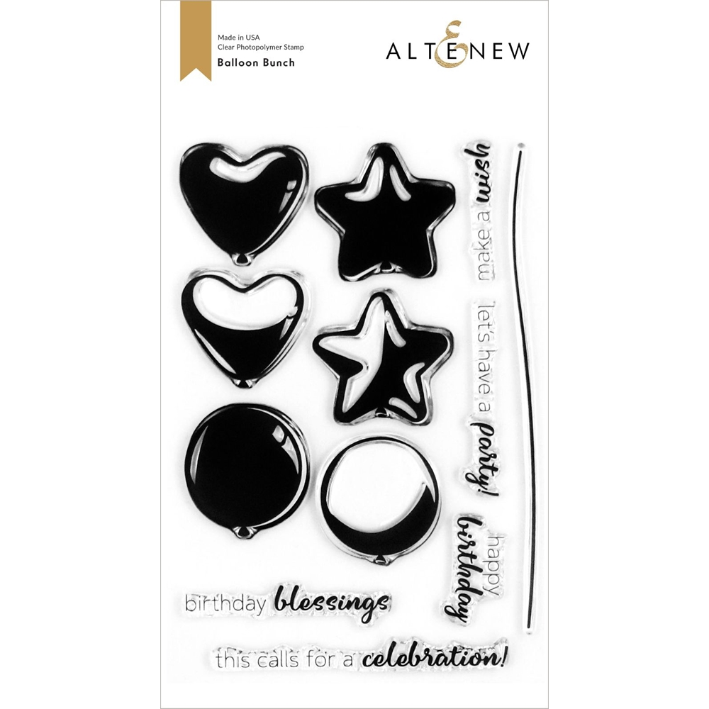 Altenew BALLOON BUNCH Clear Stamps ALT4255 zoom image