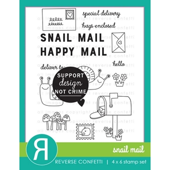 Reverse Confetti SNAIL MAIL Clear Stamps
